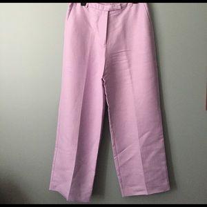 Emma James 12 Lavender Herringbone Linen pants